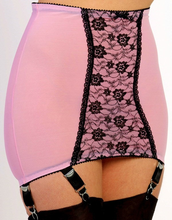 Girdle Stomach Body Pink 6 Strap Nylon Dreams NDPG6