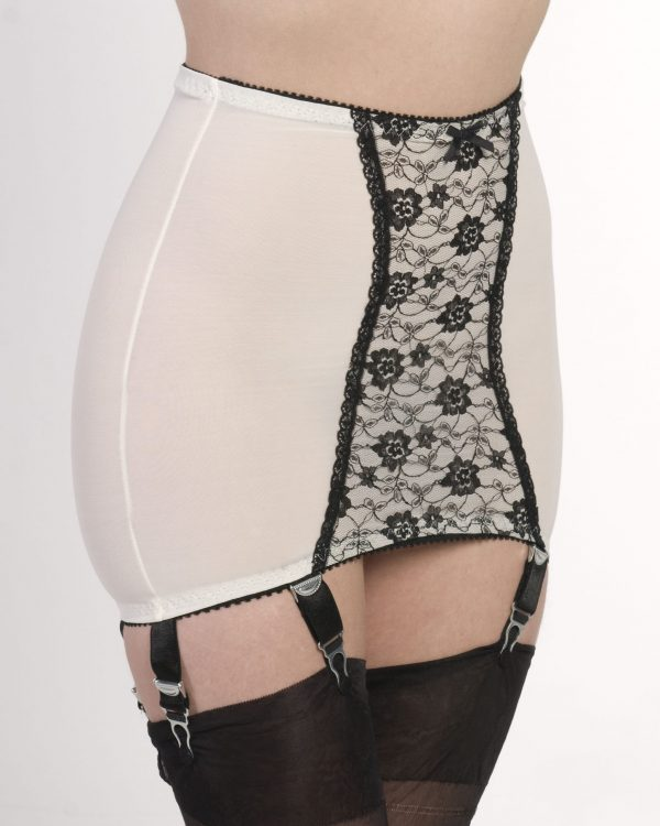 Girdle Stomach Body White 6 Strap Nylon Dreams 2 NDPG6